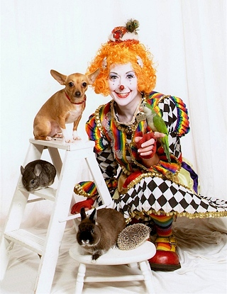 Colors the Clown with her Animal Friends!